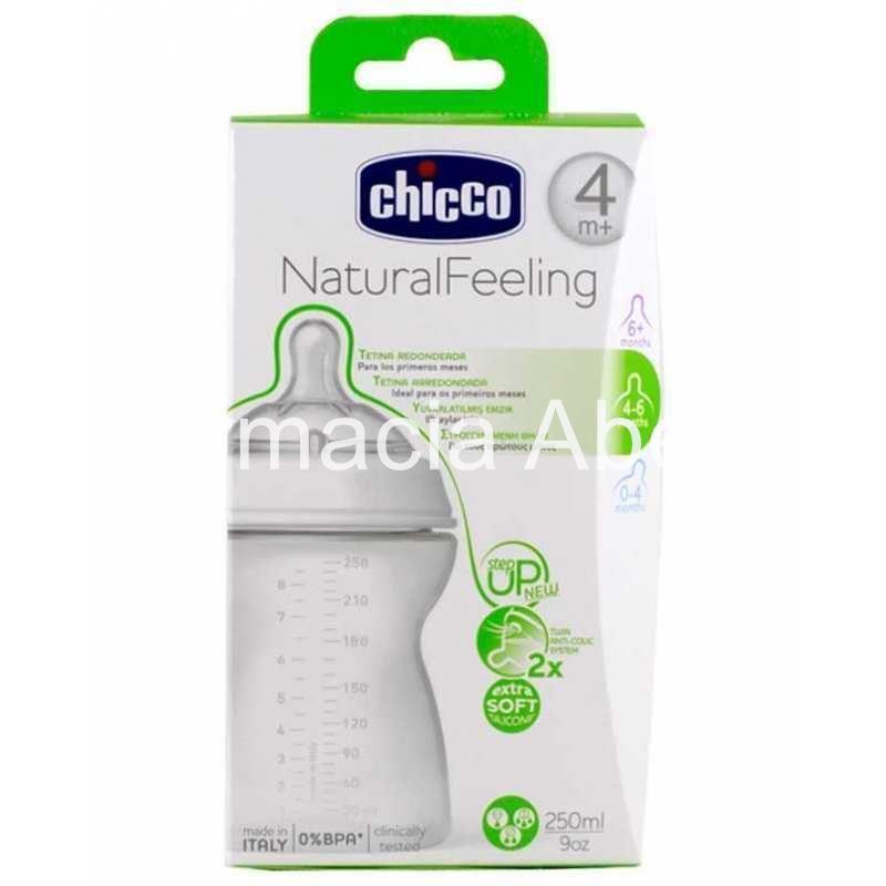 23e92262a Chicco Biberón NaturalFeeling 250 ml 4m+ tetina silicona