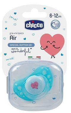 Chicco Chupete Physio Air Silicona 6-12 meses Mr. Wonderful - Imagen 1