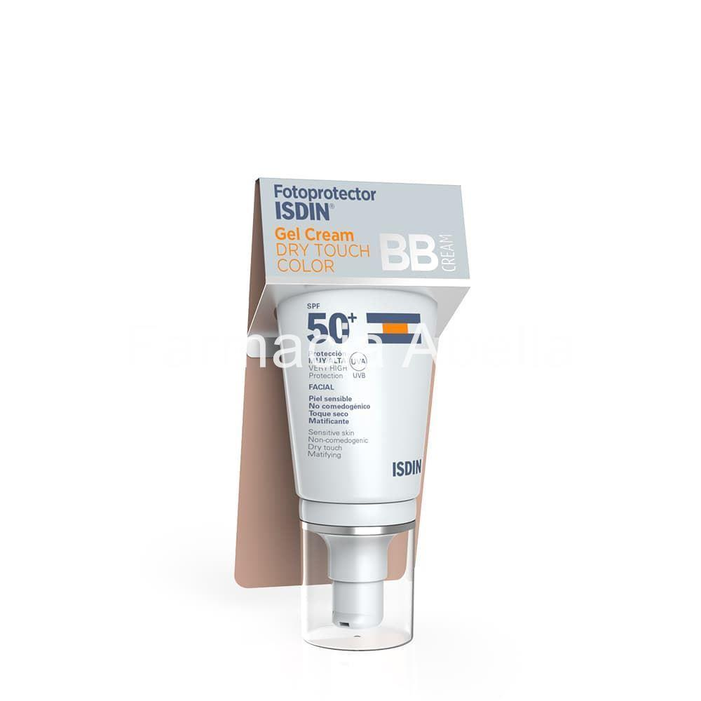 ISDIN fotoprotector gel crema dry touch color BB cream SPF 50+ 50 ml - Imagen 1