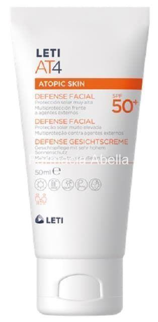 Leti AT4 defense facial spf 50+ 50 ml - Imagen 1
