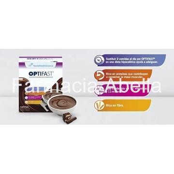 Optifast Natillas Sabor Chocolate 9 sobres - Imagen 1